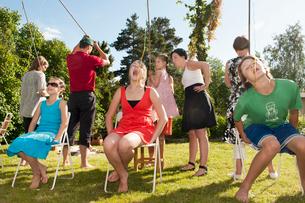 Sweden, Ostergotland, Braviken, Adults and kids (12-13, 14-1の写真素材 [FYI02192605]