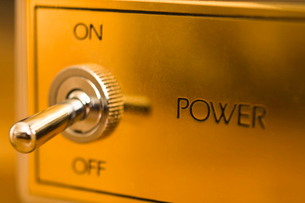 Old-fashioned power switchの写真素材 [FYI02192760]