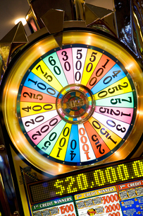 Caribbean, Close-up of casino wheelの写真素材 [FYI02193230]