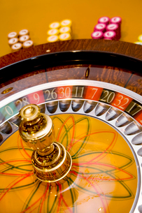 Caribbean, Close up of roulette wheelの写真素材 [FYI02193234]