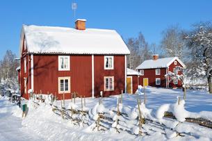Sweden, Smaland, Stensjo, Winter landscapeの写真素材 [FYI02193576]