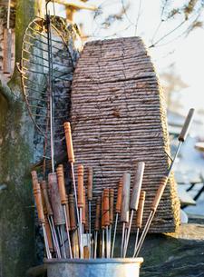 Finland, Helsinki, Tolo, Barbecue equipmentの写真素材 [FYI02193622]