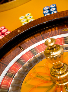 Caribbean, Close up of roulette wheelの写真素材 [FYI02193923]