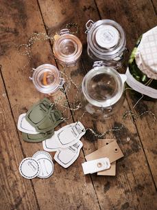 Jars for homemade jamの写真素材 [FYI02195350]