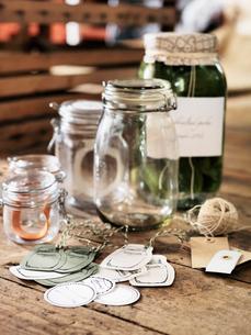 Jars for homemade jamの写真素材 [FYI02195648]