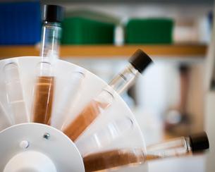 Sweden, Stockholm, Solna, Statens Bakteriologiska Laboratorium, Liquid tests in tubes in centrifugeの写真素材 [FYI02195749]
