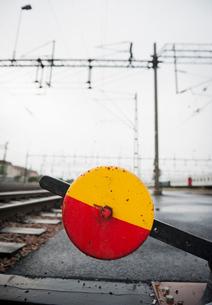 Sweden, Skane, Malmo, Railroad junctionの写真素材 [FYI02196479]