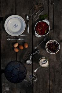 Pancake's preparationの写真素材 [FYI02197263]
