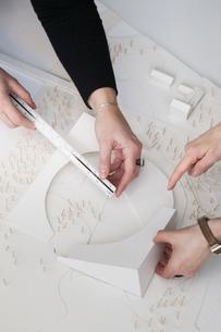 Sweden, Stockholm, Preparing model of buildingの写真素材 [FYI02197330]