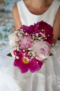 Sweden, Close up of bride's bouquetの写真素材 [FYI02197524]