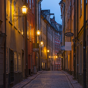 Sweden, Stockholm, Gamla Stan, View of Stockholm Old Townの写真素材 [FYI02197762]
