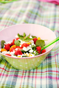Sweden, Close up of salad in bowlの写真素材 [FYI02197910]