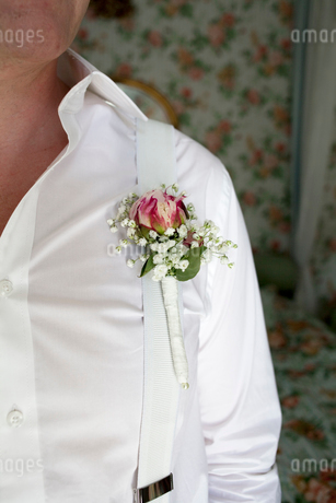Sweden, Close up of groom's decorationの写真素材 [FYI02198154]