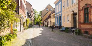 Sweden, Skane, Malmo, Gamla staden, Tranquil city streetの写真素材 [FYI02201603]
