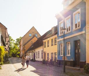 Sweden, Skane, Malmo, Gamla staden, Tranquil city streetの写真素材 [FYI02201918]