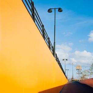 Sweden, Skane, Malmo, Yellow colored wallの写真素材 [FYI02201982]