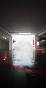 Sweden, Skane, Malmo, Hyllie, Entrance to underground parkingの写真素材 [FYI02202017]