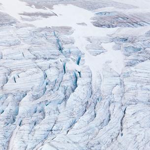 Sweden, Harjedalen, Helagsfjallet, View of glacier in summerの写真素材 [FYI02202481]