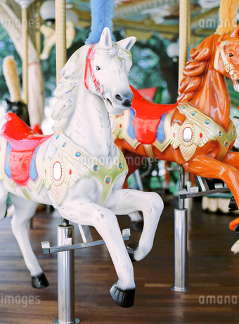 Italy, Close-up of carousel horse in amusement parkの写真素材 [FYI02202798]
