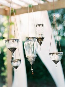 Sweden, Glass lanterns hanging on chainsの写真素材 [FYI02203036]