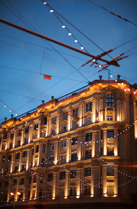 Russia, Moscow, Christmas decoration in streetの写真素材 [FYI02203275]