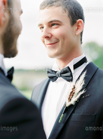 Sweden, Grooms at gay weddingの写真素材 [FYI02203278]