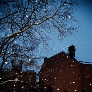 Sweden, Snowfall in cityの写真素材 [FYI02204214]