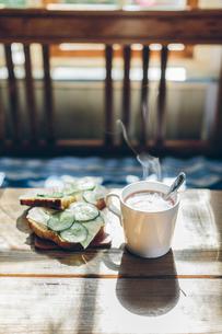 Sweden, Breakfast on tableの写真素材 [FYI02204277]