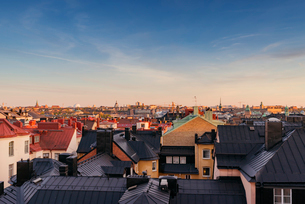 Sweden, Stockholm, Ostermalm, Cityscape seen from above rooftopsの写真素材 [FYI02206896]
