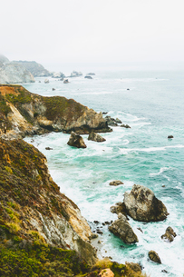 USA, California, Big Sur, View of rocky coastの写真素材 [FYI02207253]