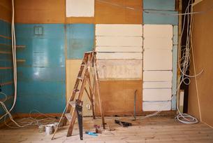 Sweden, Room during renovationの写真素材 [FYI02207380]