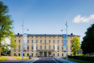 Sweden, Uppland, Uppsala, Facade of University Libraryの写真素材 [FYI02207661]