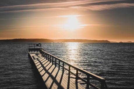 Wharf in Sodermanland, Swedenの写真素材 [FYI02207710]