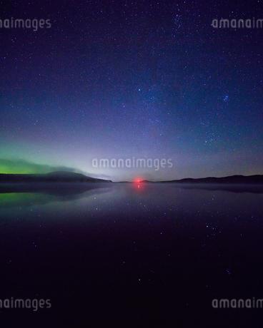 Northern lights in Dalarna, Swedenの写真素材 [FYI02207762]