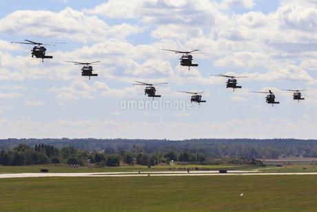 Helicopter military exercise in Malmslatt, Swedenの写真素材 [FYI02207827]