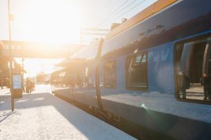 Train station in Jamtland, Swedenの写真素材 [FYI02207856]