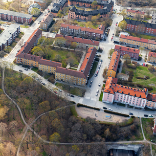 Aerial view of Hjorthagen in Stockholm, Swedenの写真素材 [FYI02208096]