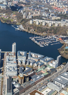 Aerial view of Stockholm, Swedenの写真素材 [FYI02208129]