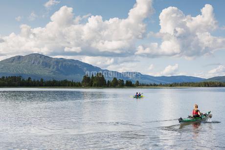 Lake in Jamtland, Swedenの写真素材 [FYI02208138]