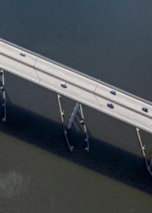 Aerial view of bridge in Stockholm, Swedenの写真素材 [FYI02208195]