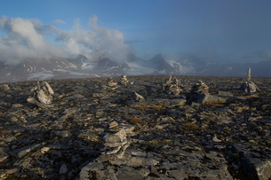 Sweden, Lapland, Naite, Landscape of Sarek national park with Partemassivet in backgroundの写真素材 [FYI02208207]
