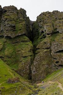 Iceland, Suournes, Rauofeldsgja Gorge also called Rauofeldsgja ravineの写真素材 [FYI02208229]