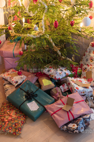 Gifts under Christmas treeの写真素材 [FYI02208514]