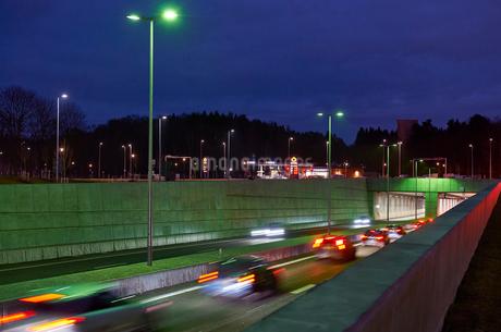Norra Lanken Motorway in Stockholm, Swedenの写真素材 [FYI02208521]