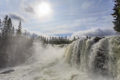 Waterfall in Jamtland, Swedenの写真素材 [FYI02208530]