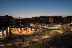 Petrol station in Gothenburg, Swedenの写真素材 [FYI02208699]