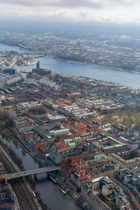 Aerial view of Stockholm, Swedenの写真素材 [FYI02208775]