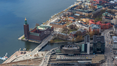 Aerial view of Stockholm, Swedenの写真素材 [FYI02208884]