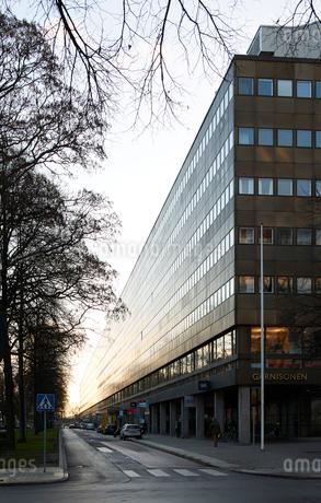 City street in Stockholm, Swedenの写真素材 [FYI02208934]