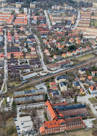 Aerial view of Uppsala, Swedenの写真素材 [FYI02208981]
